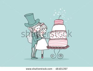 stock-vector-wedding-set-couple-cutting-yummy-wedding-cake-46401397